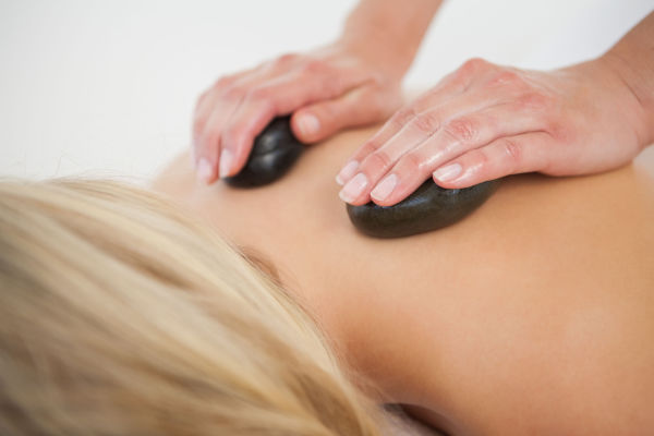relaxation and hot stone massage for stress relief