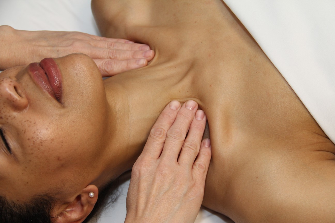 Post surgery post cancer lymphatic drainage massage